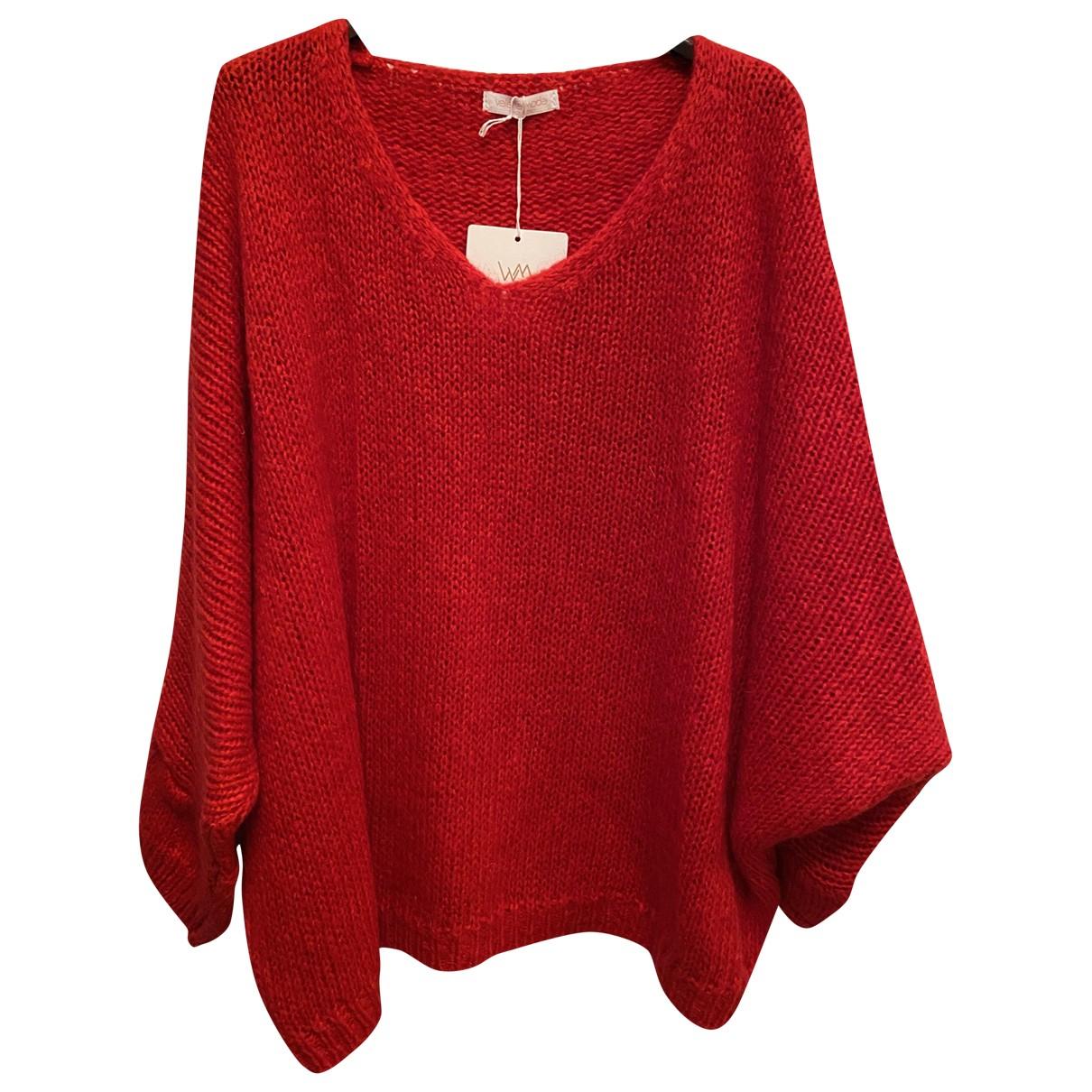 - Pull Oversize pour femme en laine - rouge
