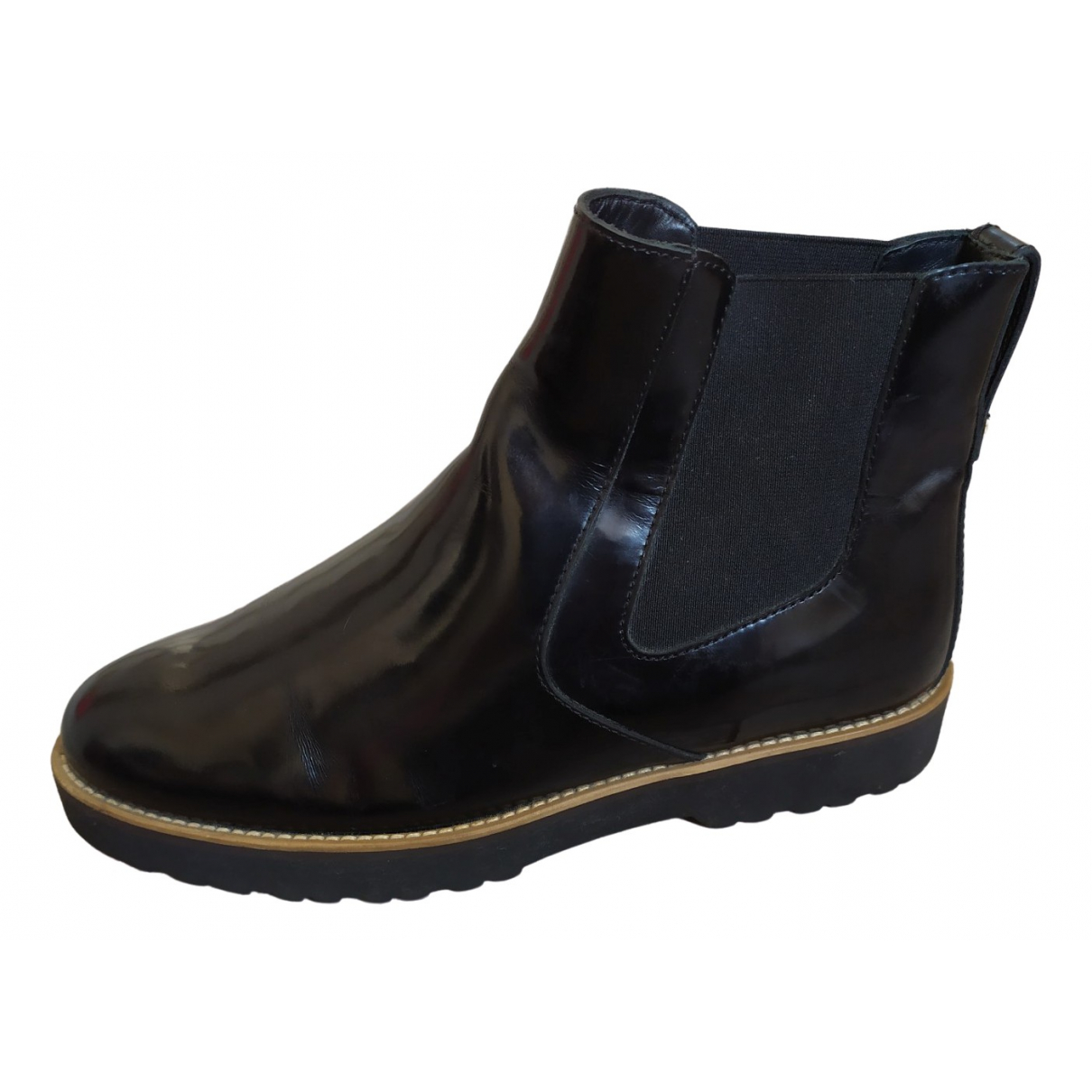 Hogan \N Black Leather Ankle boots for Women 37 EU