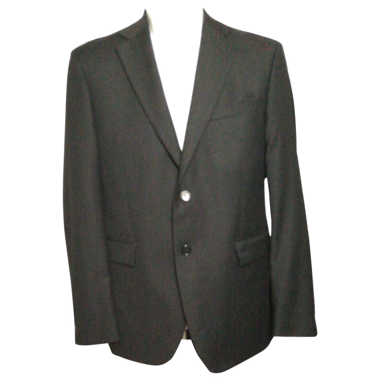 Non Signé / Unsigned \N Blue Wool jacket  for Men 50 IT