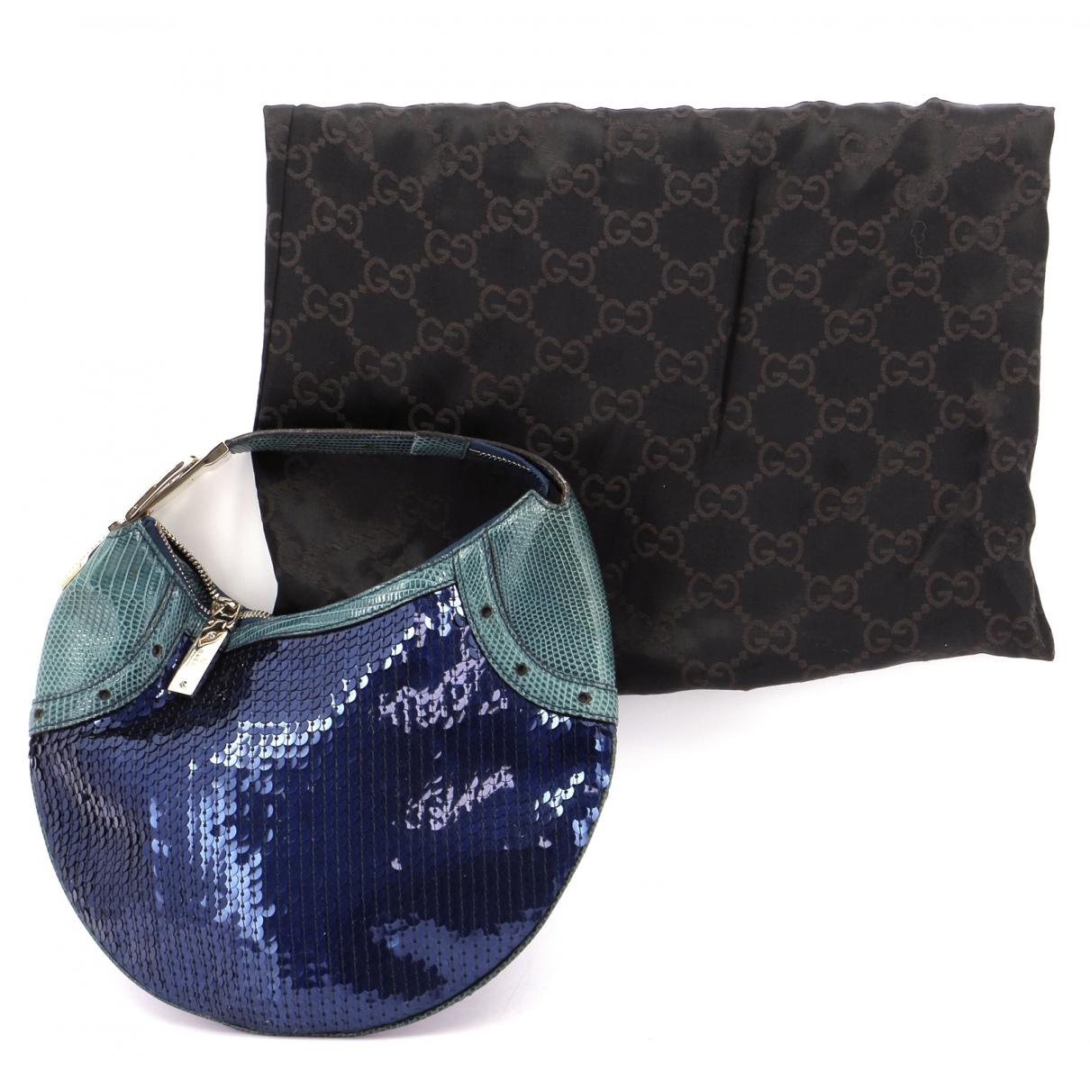 Gucci - Pochette   pour femme en cuir - bleu