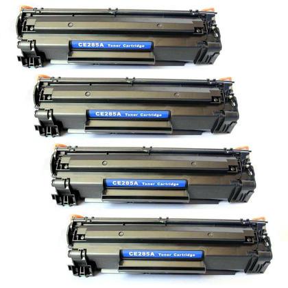 Compatible HP 85A CE285A Black Toner Cartridge - Economical Box - 4/Pack