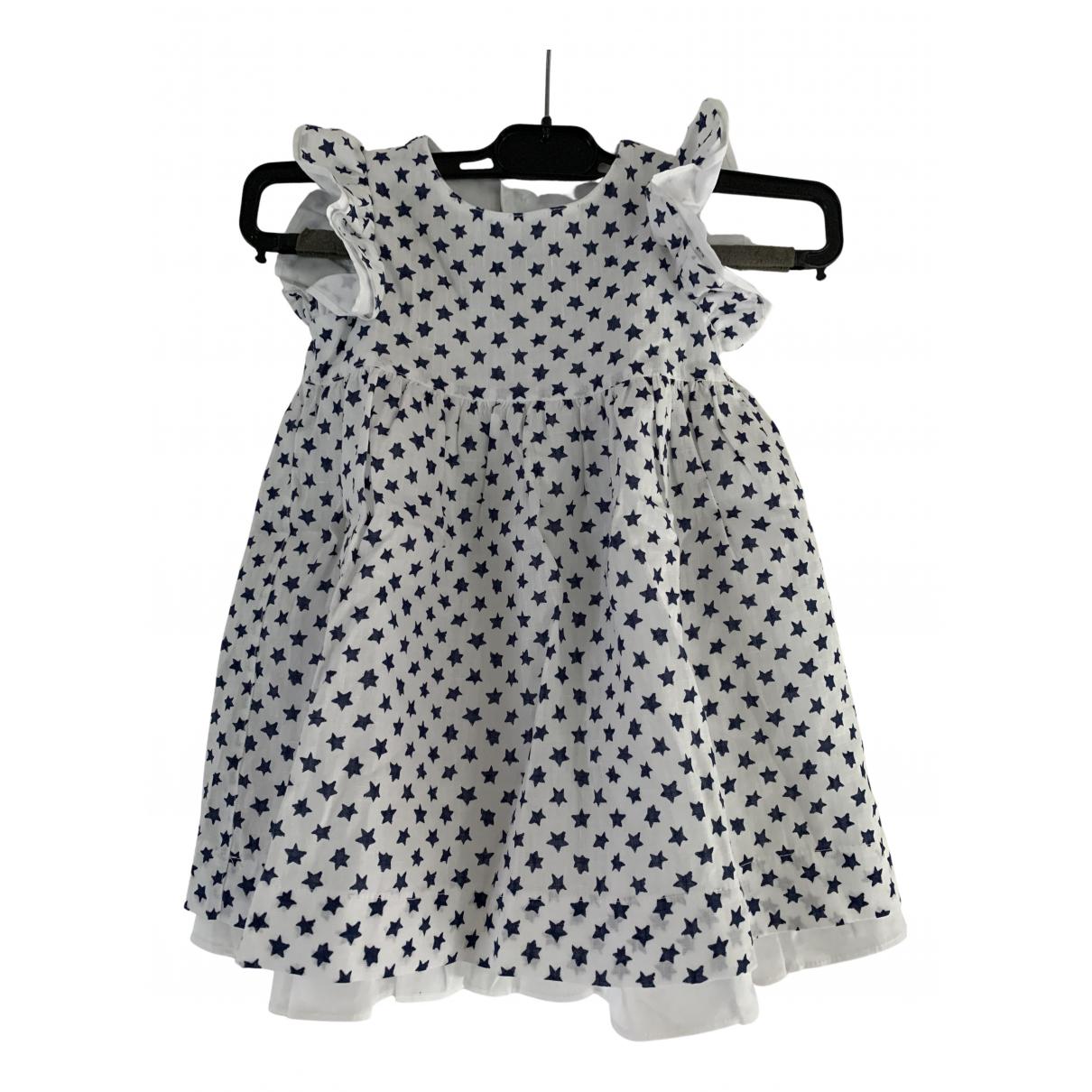 Il Gufo - Robe    pour enfant en lin - blanc