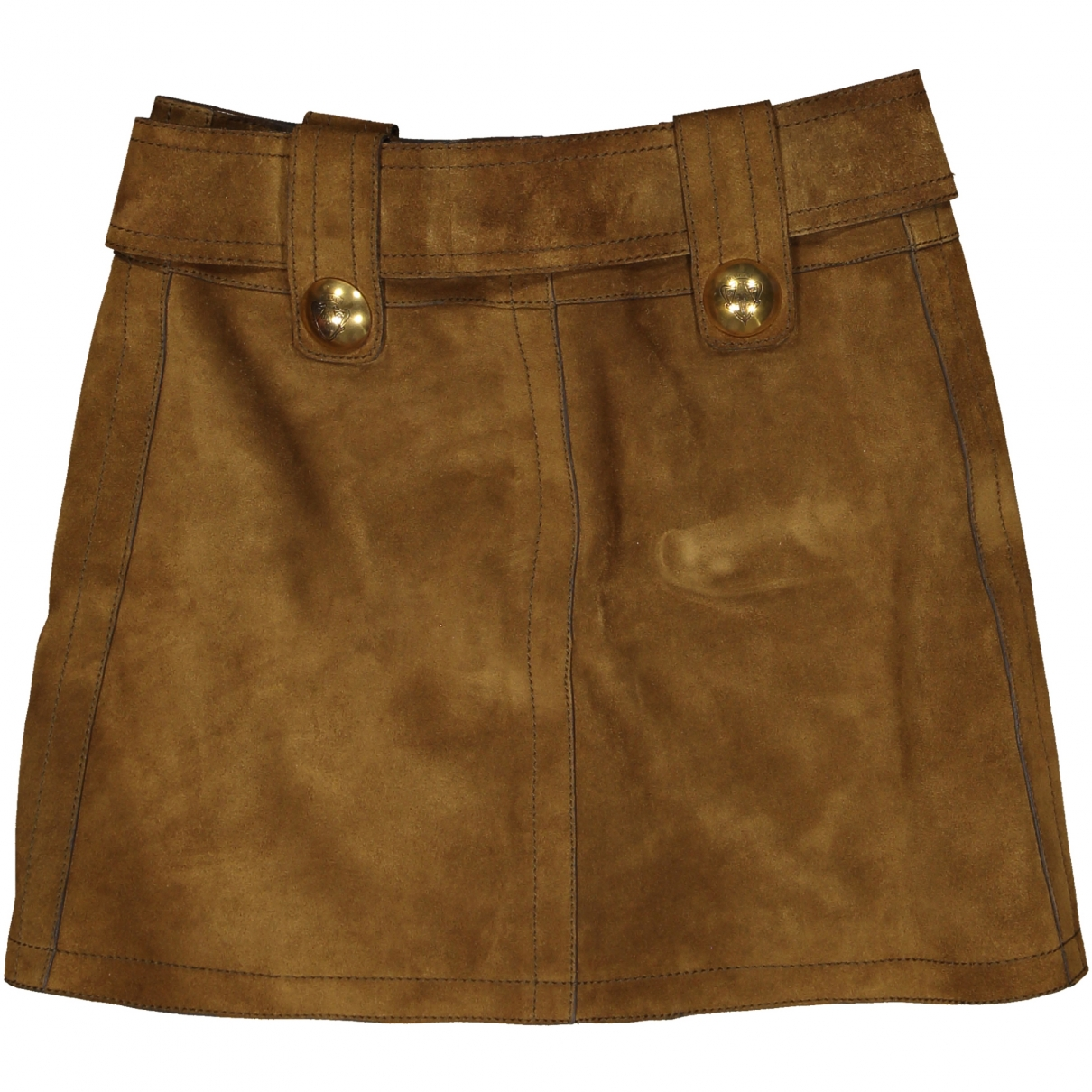 Gucci \N Camel Suede skirt for Women 38 IT