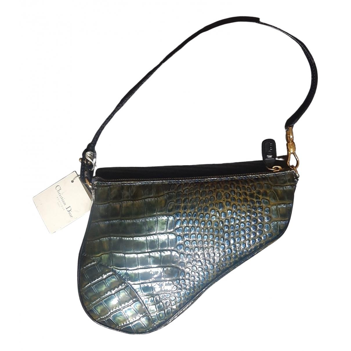 Bolso baguette Saddle de Charol Dior
