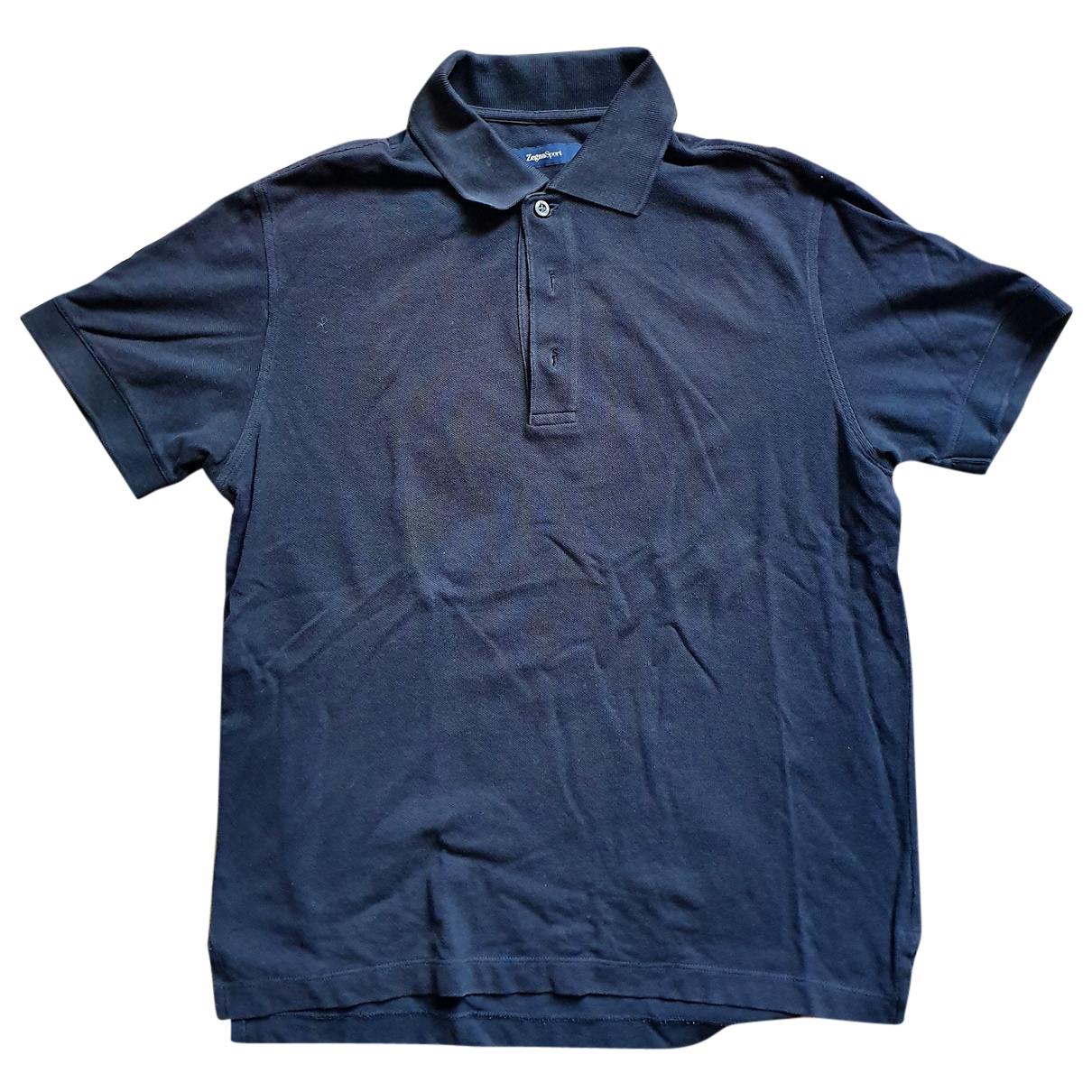 Non Signé / Unsigned N Black Cotton Polo shirts for Men S International