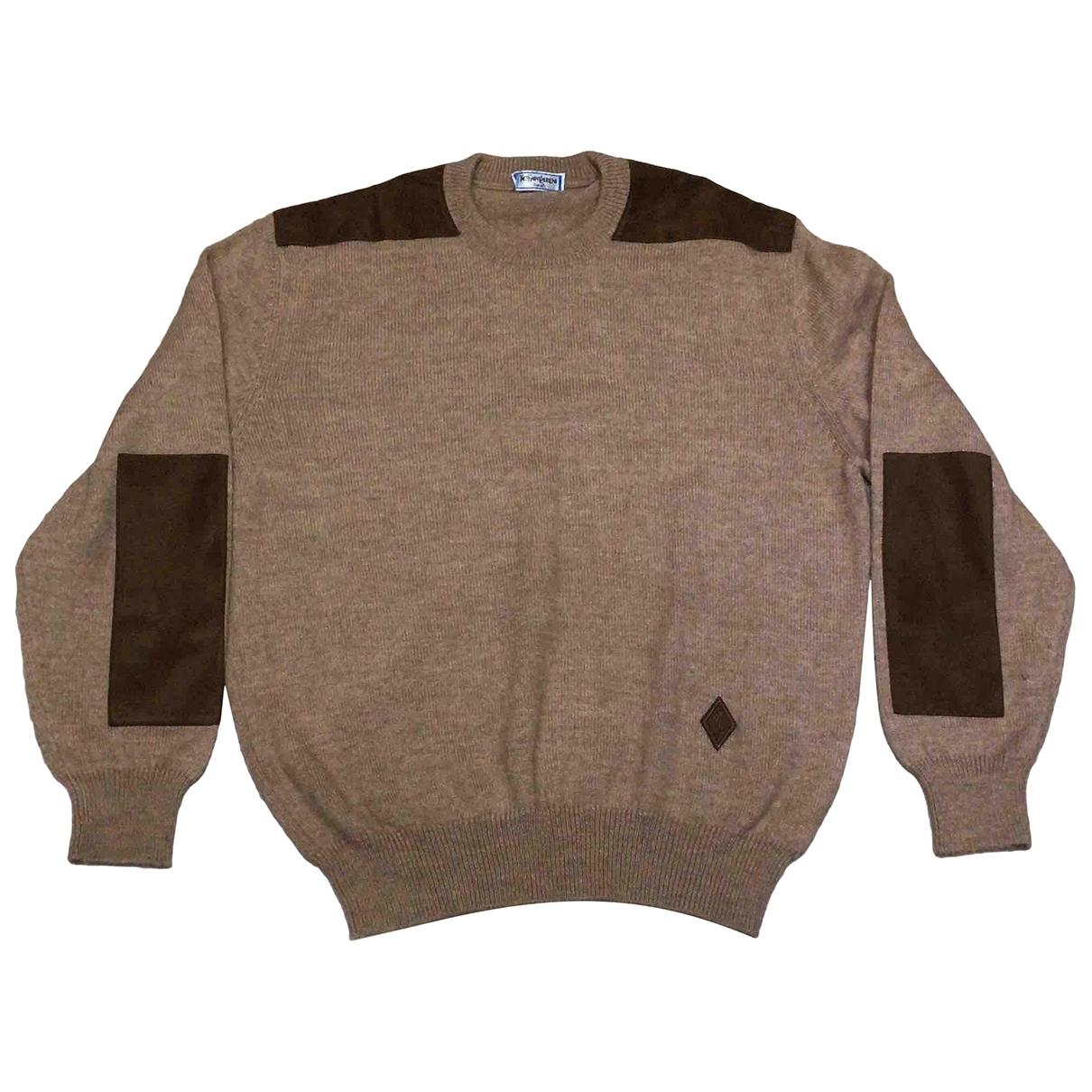 Yves Saint Laurent \N Beige Wool Knitwear & Sweatshirts for Men 5 0 - 6