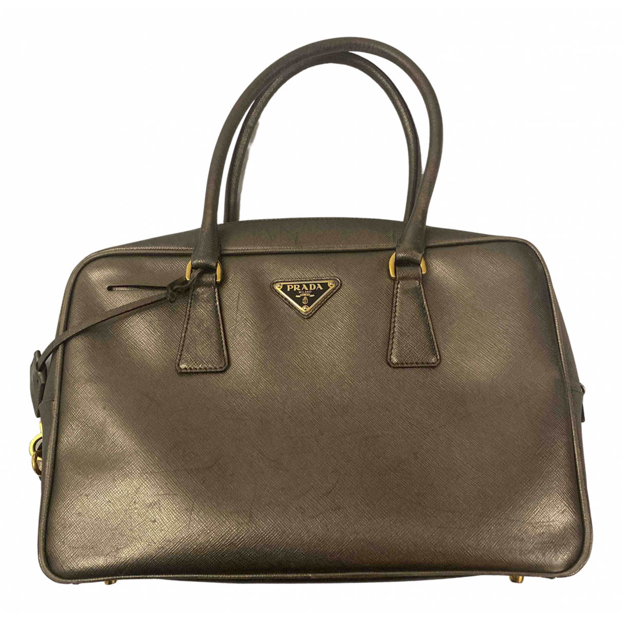 Prada saffiano  Gold Leather handbag for Women \N