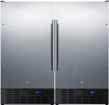 Stainless Steel Compact Refrigerator/Freezer Pair with FF1843BSS 18