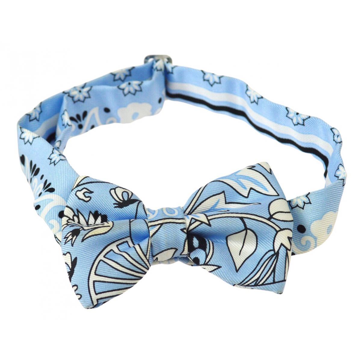 Hermès Noeud Papillon Turquoise Silk Ties for Men N