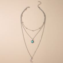 Moon Layered Chain Necklace