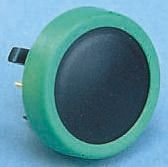Schurter Black Button Tactile Switch, SPST-NO 80 mA