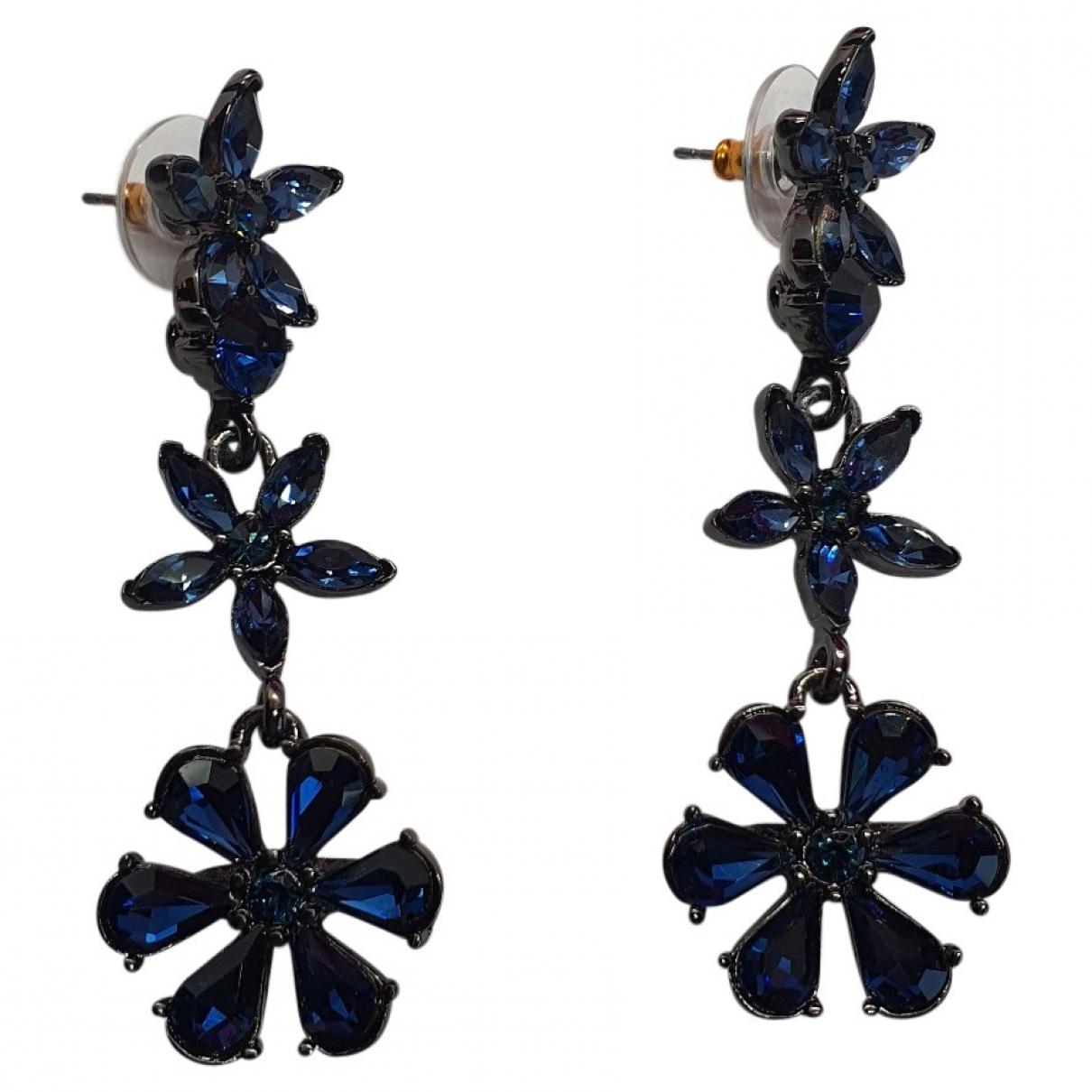 Oscar De La Renta \N OhrRing in  Blau Kristall
