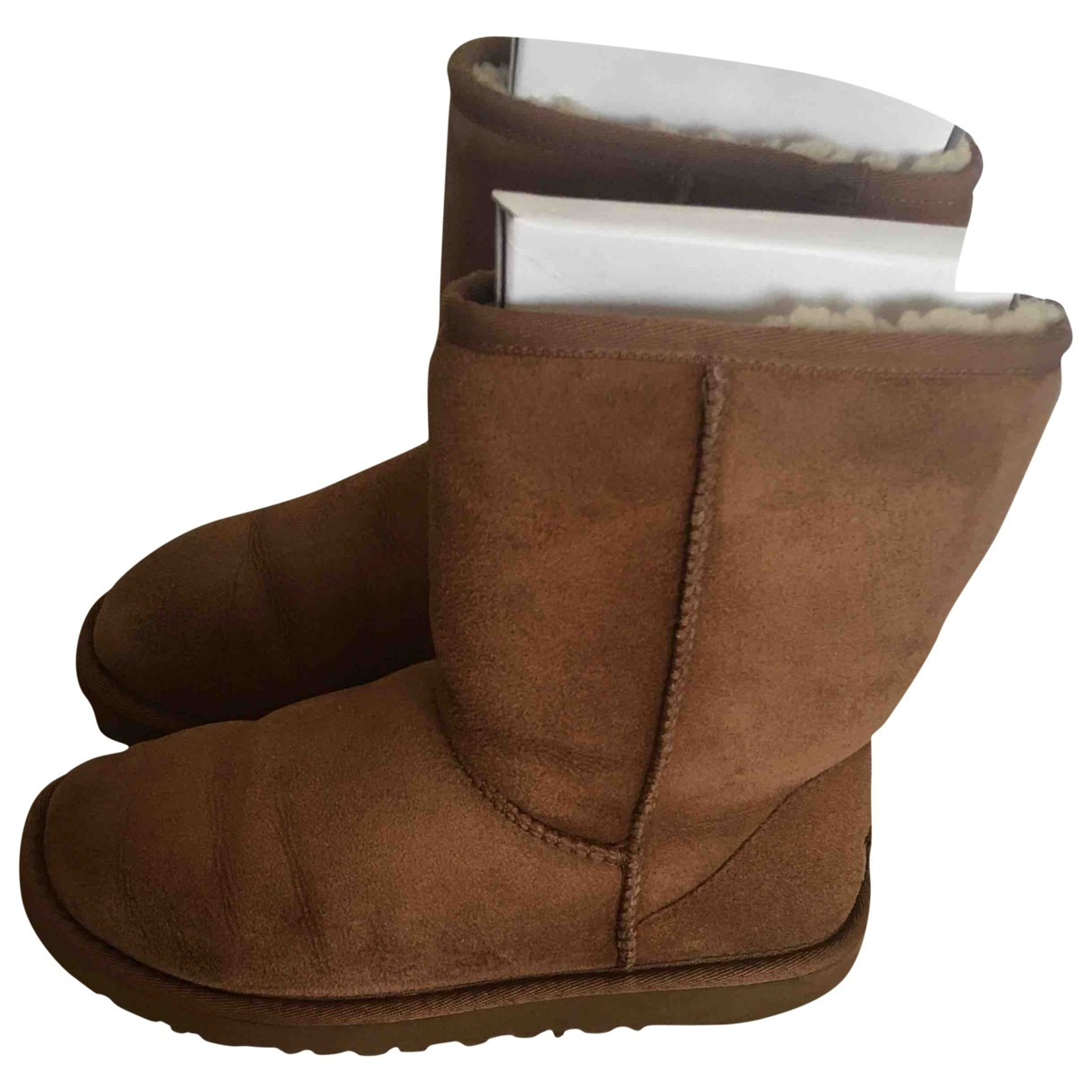 Ugg \N Camel Suede Boots for Women 3.5 UK