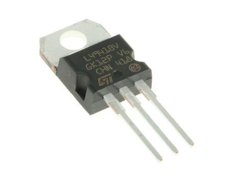 STMicroelectronics L4941BV, LDO Regulator, 1A, 5 V, ±4% 3-Pin, TO-220