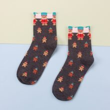 Christmas Gingerbread Man Crew Socks