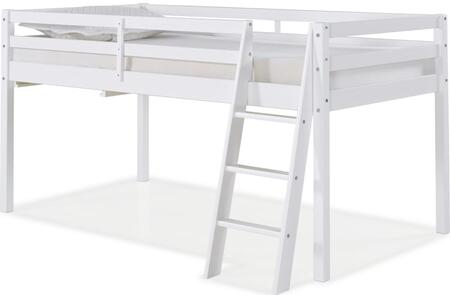 Roxy Collection AJRX10WHA Twin Wood Junior Loft Bed