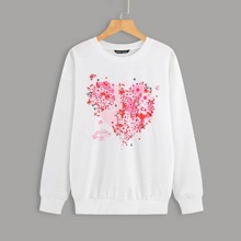 Floral & Butterfly Print Sweatshirt