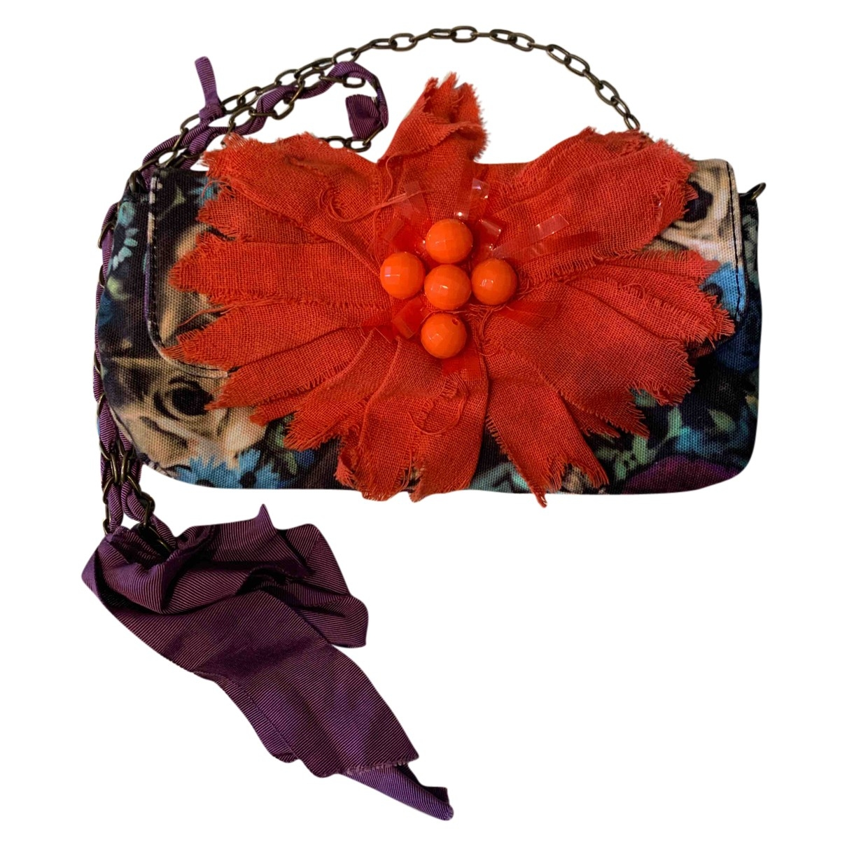 Lanvin For H&m \N Clutch in  Bunt Leinen