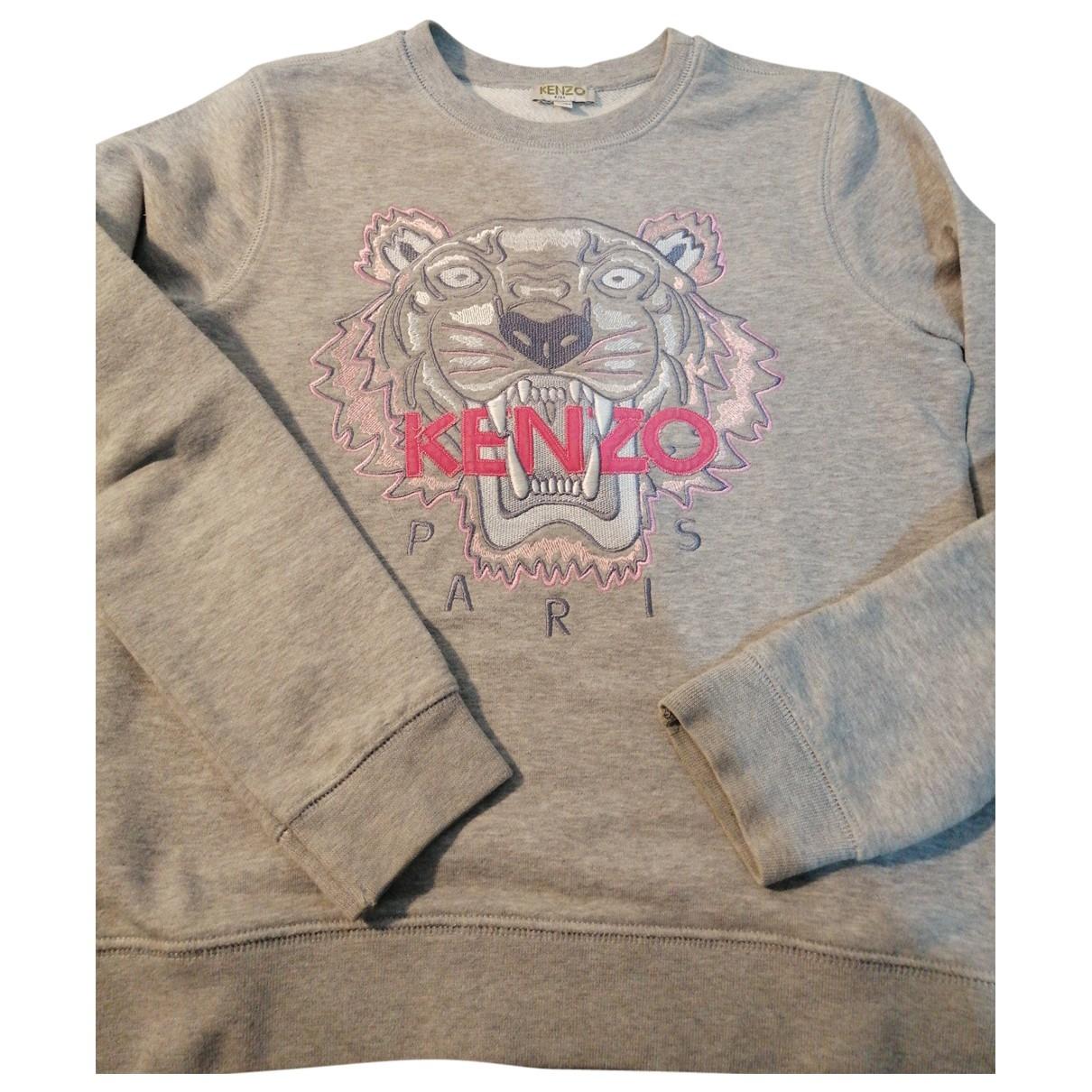 Kenzo \N Pullover, StrickJacke in  Grau Baumwolle