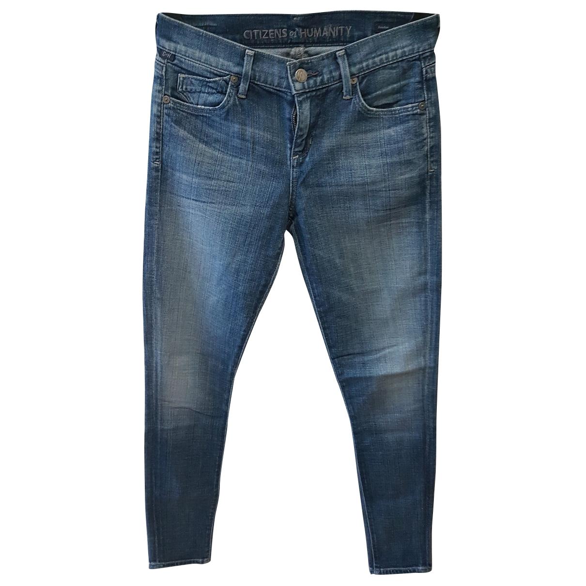 Citizens Of Humanity - Pantalon   pour femme en denim - bleu