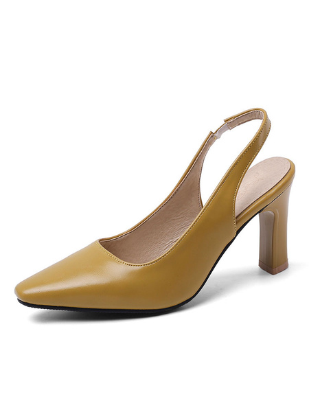 Milanoo Tacones Slingback Zapatos de tacon cuadrado Zapatos de talla grande