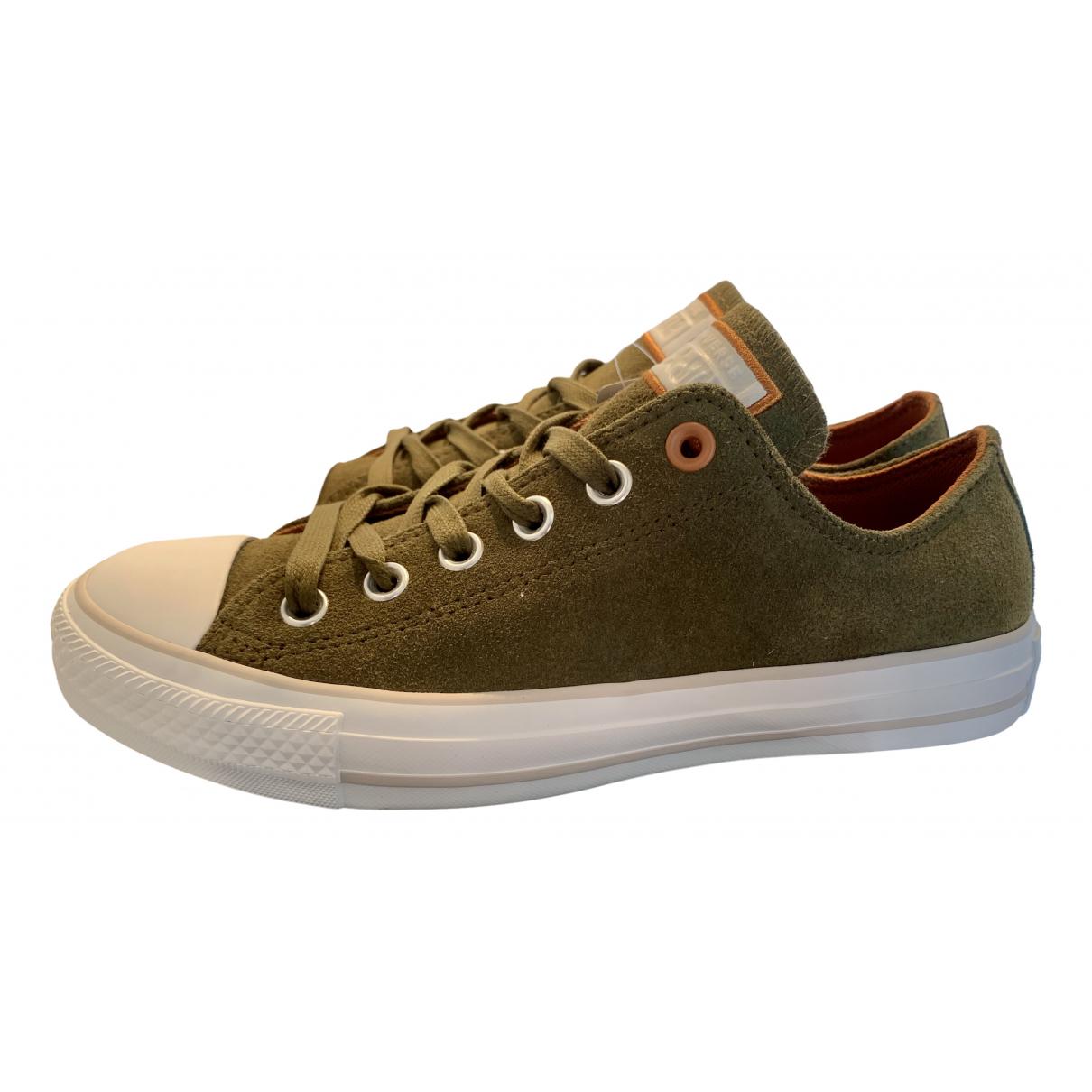 Converse \N Sneakers in  Gruen Leder