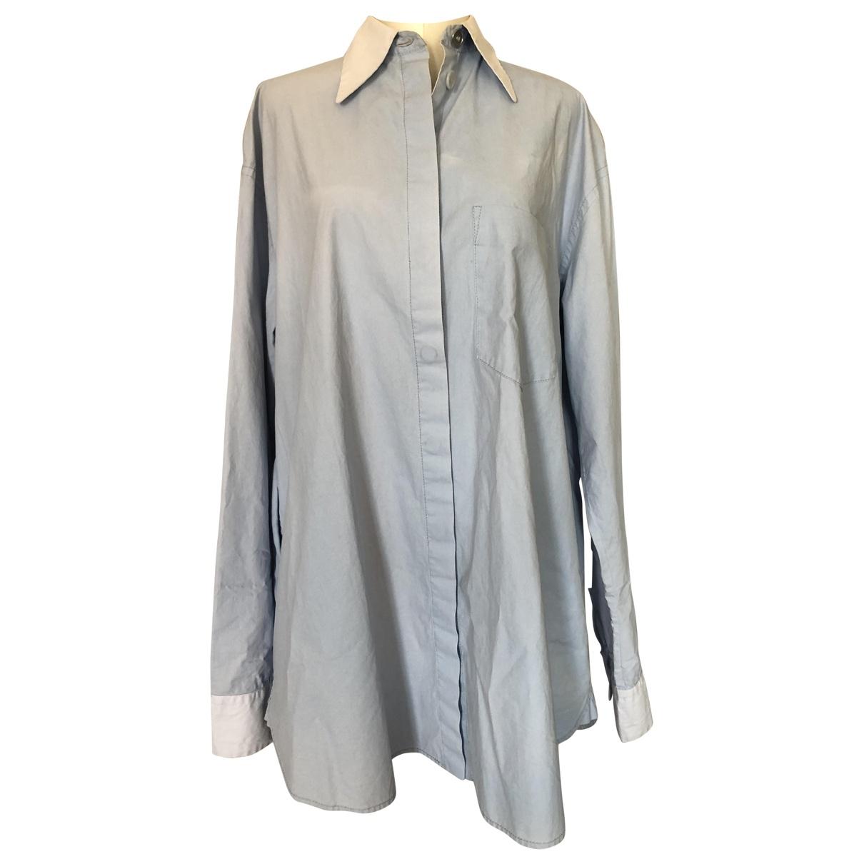 Mm6 - Robe   pour femme en coton - bleu