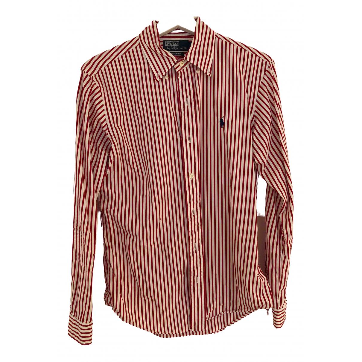 Polo Ralph Lauren - Chemises Polo ajuste manches courtes pour homme en coton - rouge