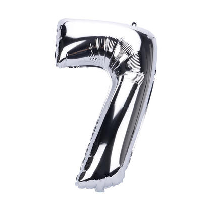 Ballon en mylar argenté avec chiffres pour décorations de fêtes, 26