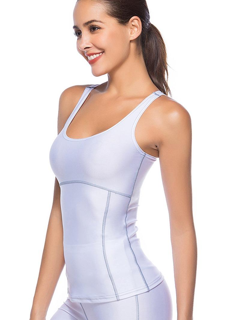 Ericdress Solid Quick Dry Vest Pullover Sport Tops