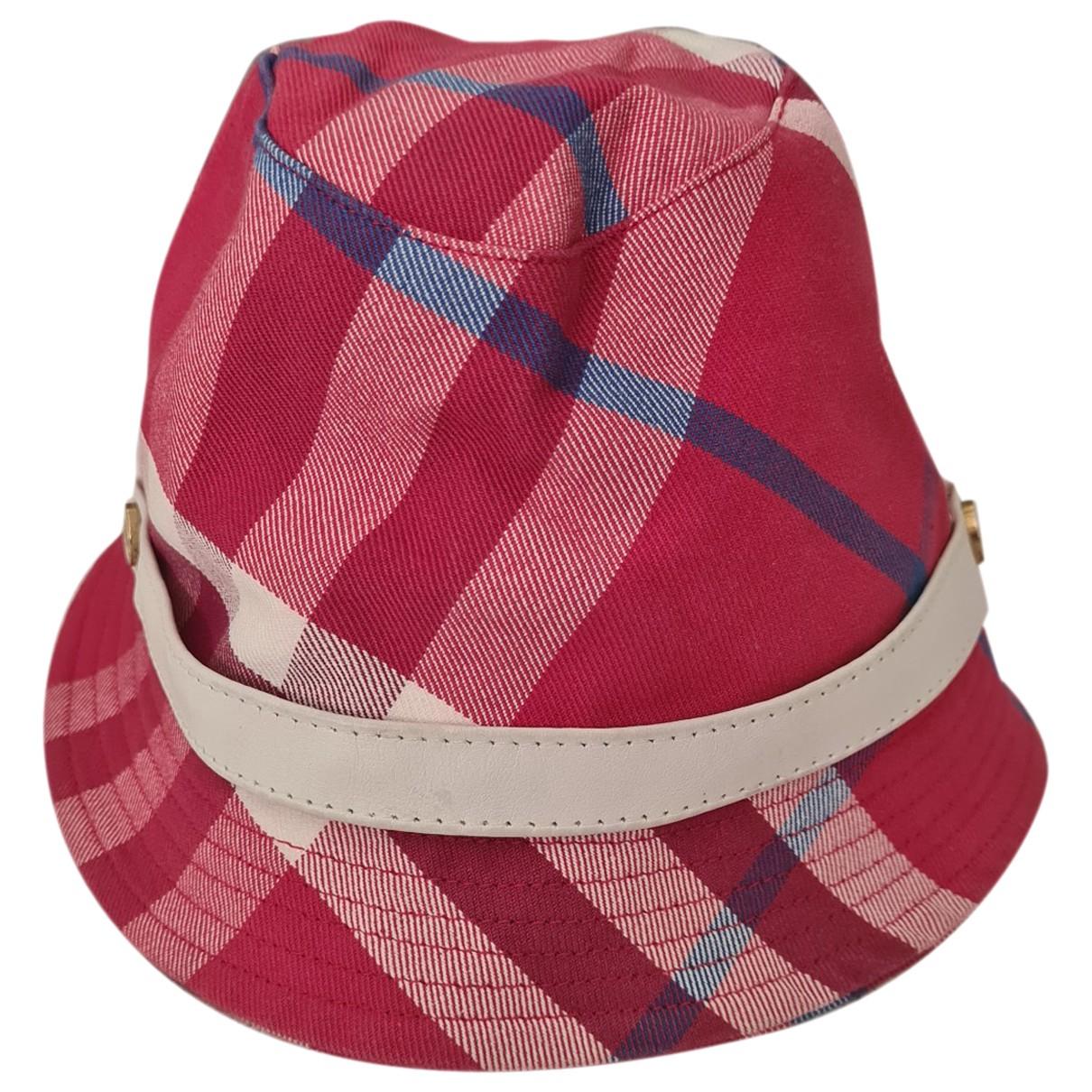 Sombreros en Algodon Rosa Burberry