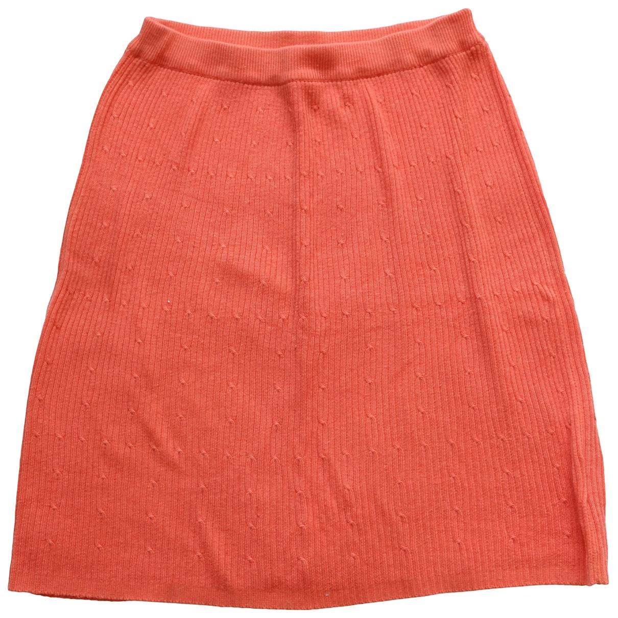 Non Signé / Unsigned \N Orange Cotton skirt for Women S International