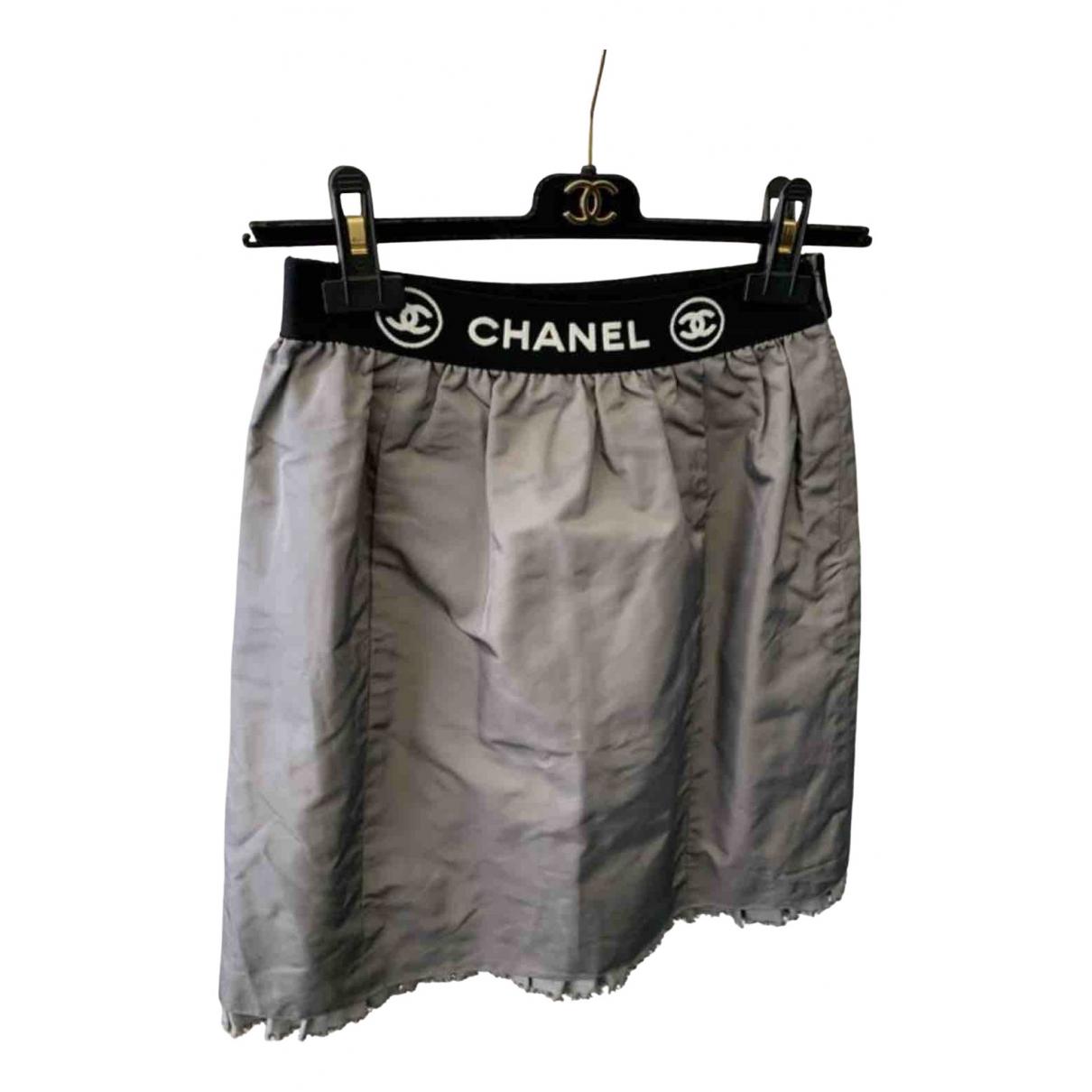Chanel \N Grey Silk skirt for Women 34 FR