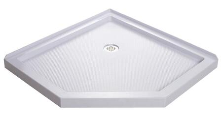 DLT-2036360 Slimline 36 In. X 36 In. X 2 3/4 In. H Corner Drain Neo-Angle Shower Base In
