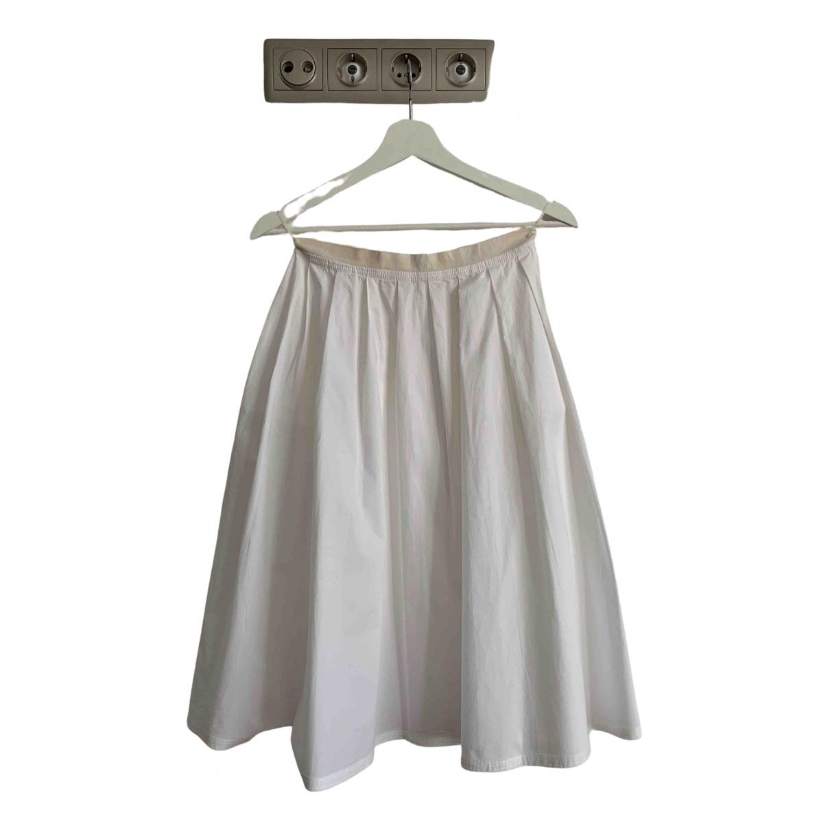 Malo - Jupe   pour femme en coton - blanc
