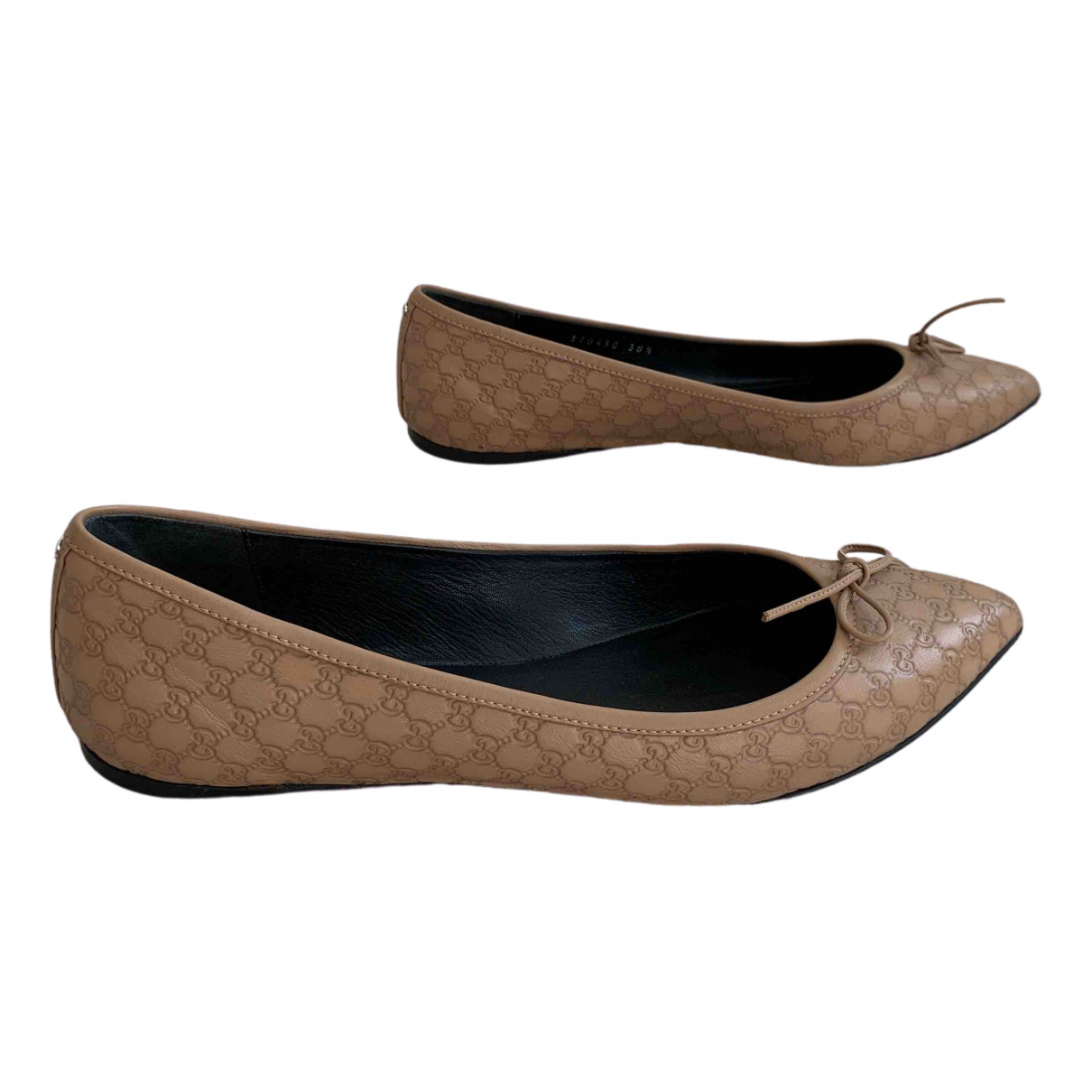 Gucci \N Beige Leather Ballet flats for Women 38.5 EU