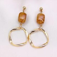 1pair Geo Drop Earrings