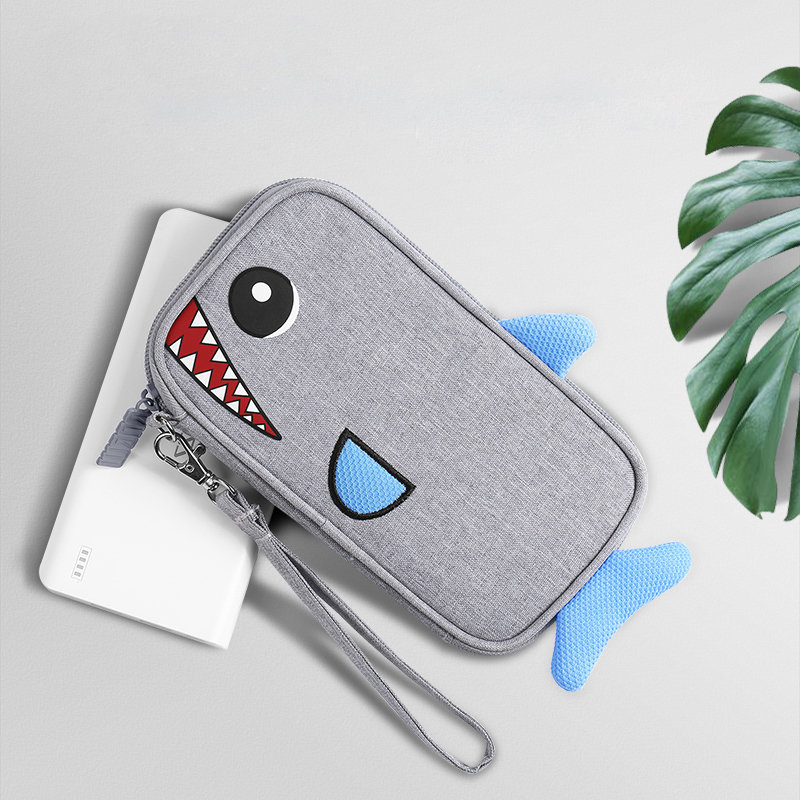 Portable Cartoon Power Bank Bag Charger USB Cable Storage Pouch Digital Storage Bag