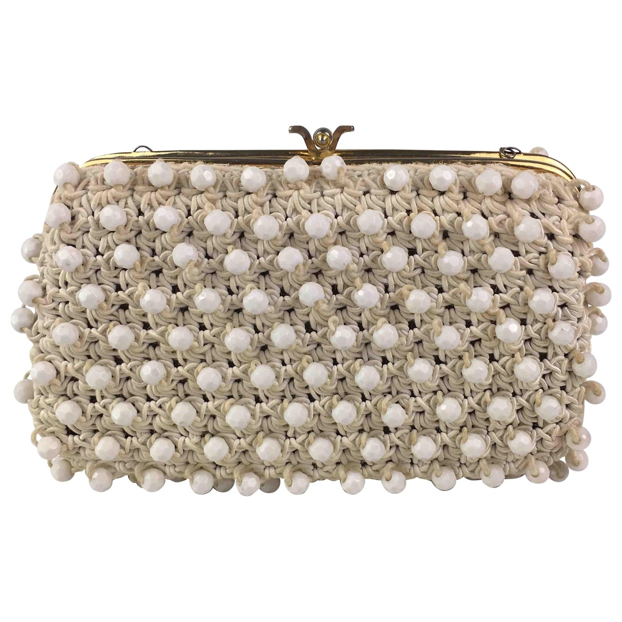 Non Signé / Unsigned \N White Clutch bag for Women \N