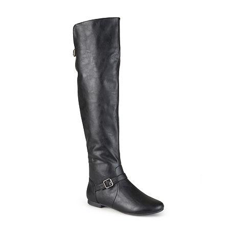Journee Collection Womens Loft Knee-High Riding Boots, 11 Medium, Black
