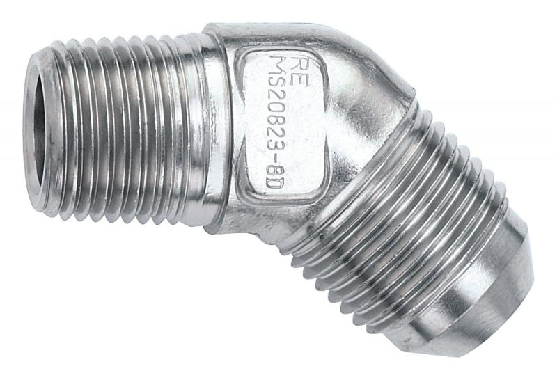 Russell STAINLESS 45 DEG FLARE; 1/8 PIPE TO-3