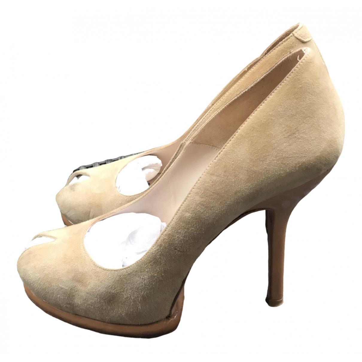 Paco Gil \N Beige Leather Heels for Women 39 EU
