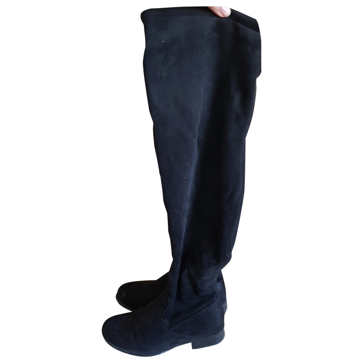 Non Signé / Unsigned \N Black Suede Boots for Women 39 EU