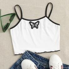 Butterfly Patched Ringer Cami