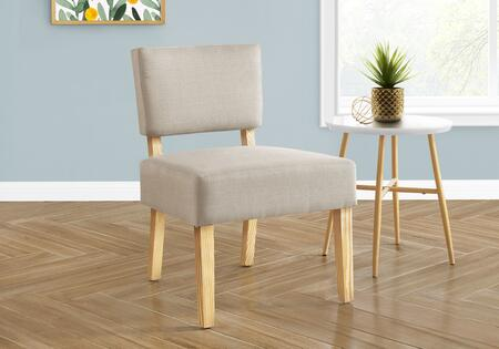 I 8272 Accent Chair - Taupe Fabric Natural Wood