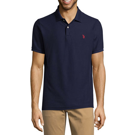 U.S. Polo Assn. Short Sleeve Ultimate Pique Polo Shirt, Medium , Blue