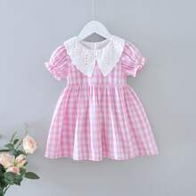 Toddler Girls Schiffy Panel Gingham A-line Dress