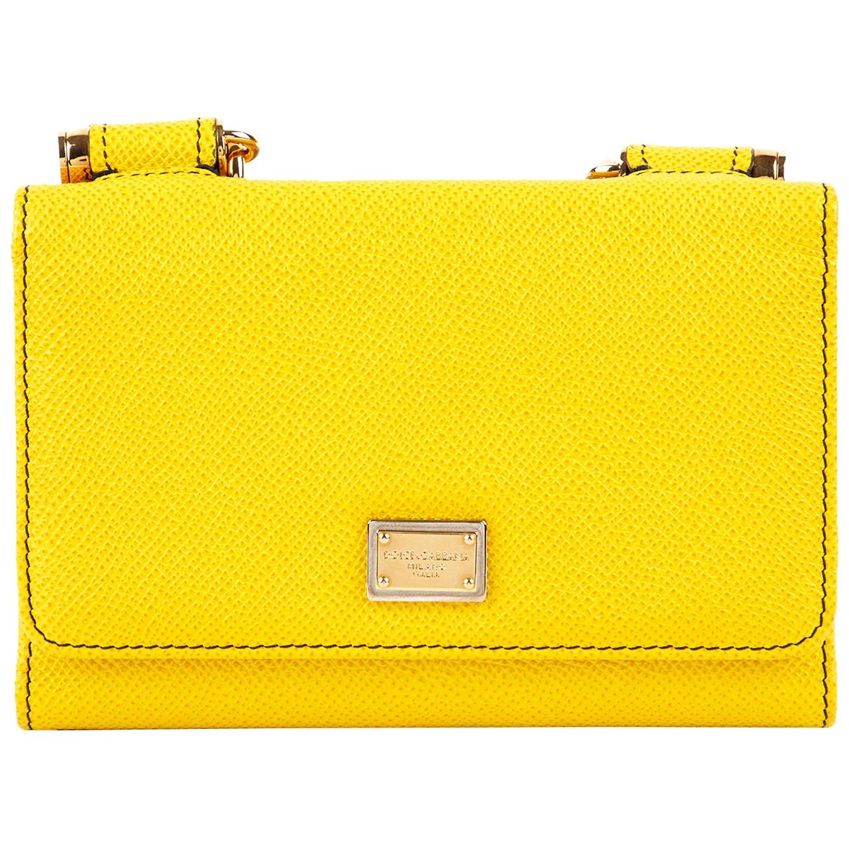 Dolce & Gabbana - Petite maroquinerie   pour femme en cuir - jaune