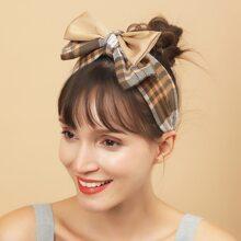 Bow Knot Plaid Hair Hoop