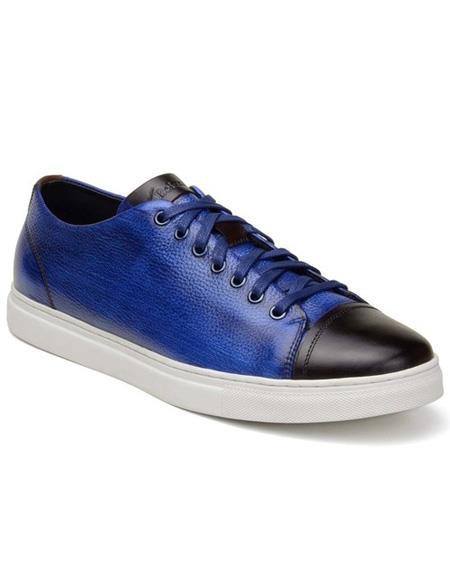 Mens Blue ~ Brown Lace Up Shoe